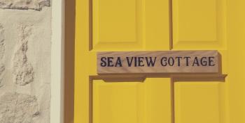 Sea View Cottage - Back Door