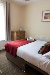 Sleeps 2 guests with hotel bed