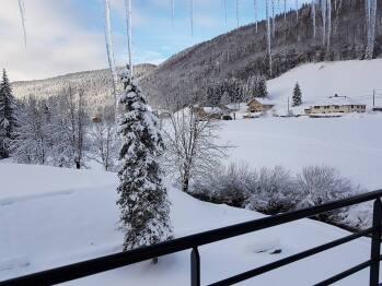Vue sur la rivière La Valserine