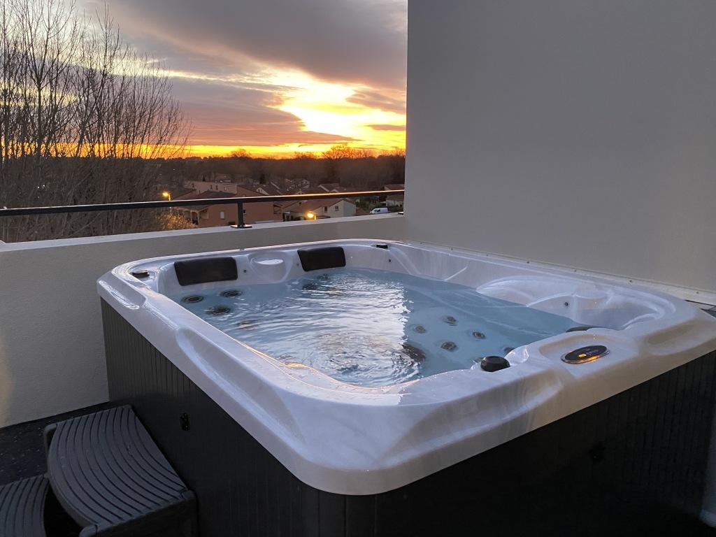 lever de soleil sur le spa