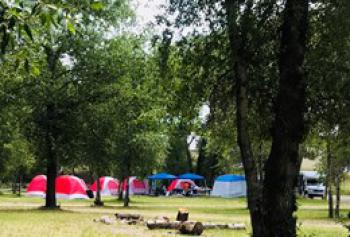 Large group camping