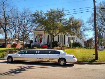 Limousine parked in front of The Claiborne House