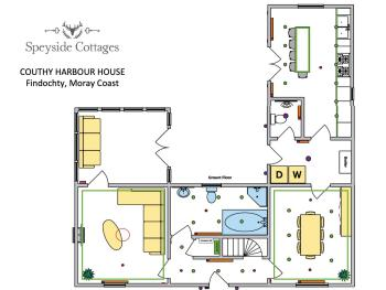 Couthy Harbour House - Ground Floor with great socialising space