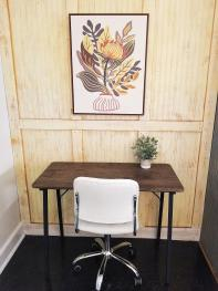 Desk and chair - perfect for those who are working remotely