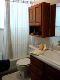 Shared private full bath is in the hall close to the room.
