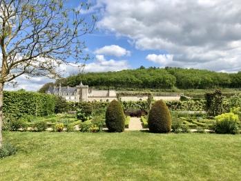 Vue face au Château de Villandry, côté chambre d'hôtes