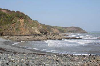 View from porthallow beach
