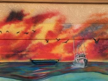 Mural Shrimp Boat