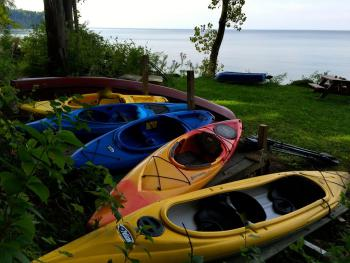 We have a variety of boats shared by both cottages.