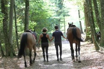 balade en amoureux avec chevaux