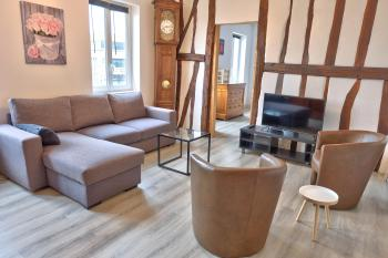 Salon d'un appartement 7 personnes - 2 km de ROUEN CENTRE