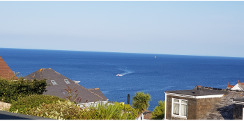 Sea views from the Lounge, rear terraces, kitchen and dining rooms