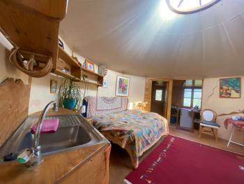 Small Yurt inside view