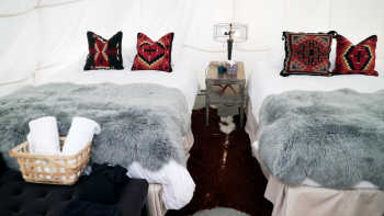 Tipi- 2 Double Beds-Comfort-Tipi-Shared Bathroom-Mountain View