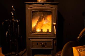 Wood burner in your hut
