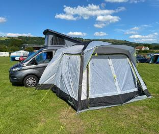 with additional drive away awning