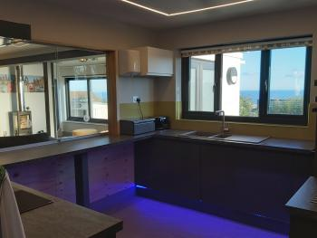 Sea views from the kitchen and adjoing Lounge