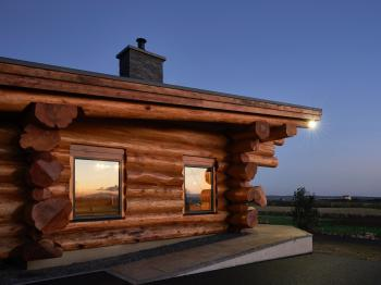Salix-Log Cabin-Luxury-Ensuite-Sea View - Base Rate