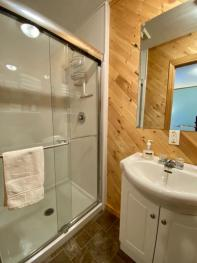 Puffin bathroom is located in the bedroom!