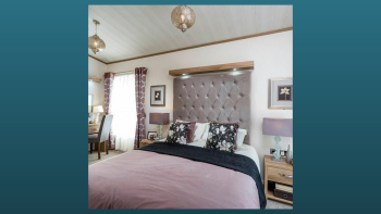 Master bedroom with seated dressing area, and beautiful grand en-suite bathroom