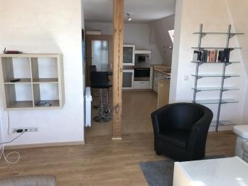 Penthouse Appartement Küche und Wohnbereich