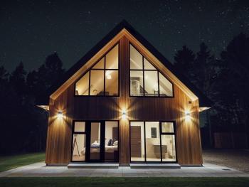 Cedar Lodge under stars