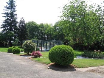 vue des chambres sur la piscine