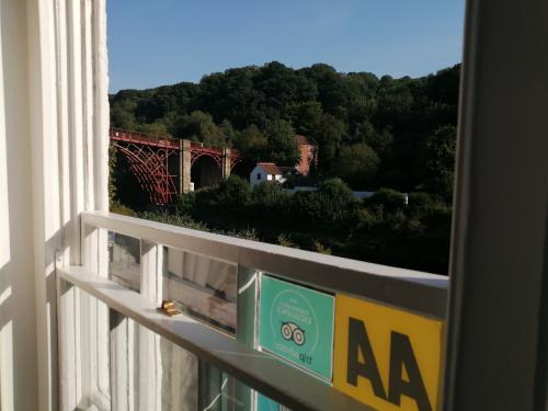 Fantastic view of the Iron bridge from the lounge at Ironbridge View Townhouse