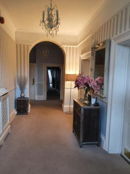 Entrance hallway leading into our home