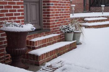 les charmes du petit pré-sous la neige