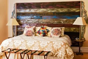 Turkey Tail Room Custom Headboard From Local Reclaimed Wood