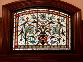 Beautiful original stained glass window