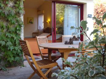 La terrasse depuis la chambre Bougard