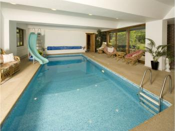 View of our indoor pool open all year round for B&B guest