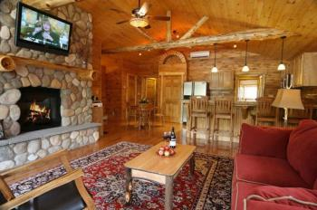 Eagles Nest open living room-dining area- kitchen