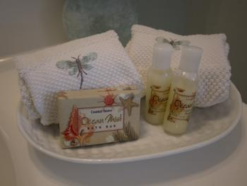 Canopy Room bathroom toiletries