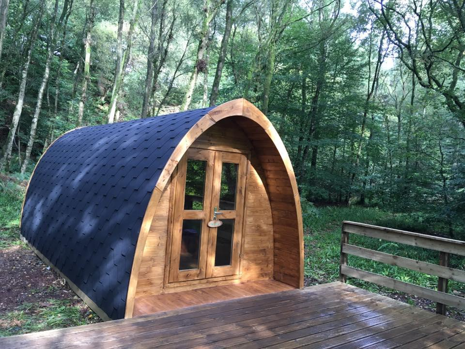 Cabin-2-Eco Pod -Private Bathroom-River view