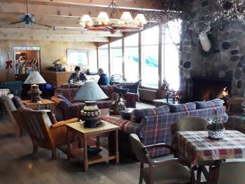 Enjoy breakfast in the Fireside Room