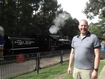 four-hour, 25-mile rail journey through the Piney Woods of East Texas