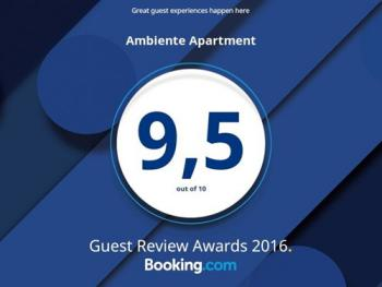 Booking.com 9,5 Guest Review Award 2016