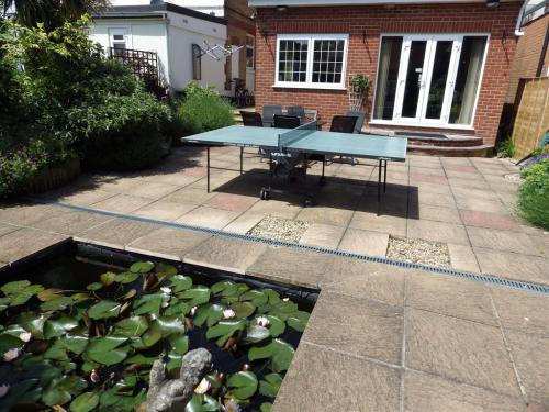 Garden with table tennis.