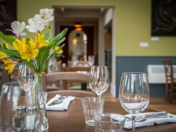 Dine in style in either the Orangery or the Terrace Room