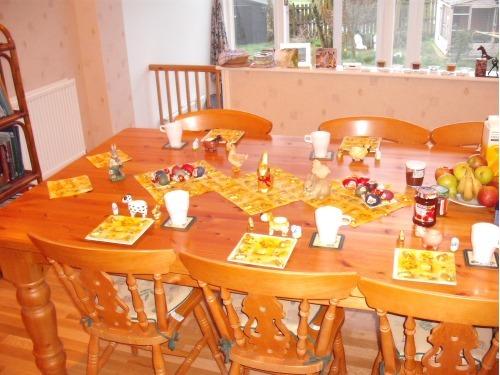 Breakfast Room at Easter