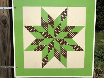 Our sign for the Barn Quilt Trail