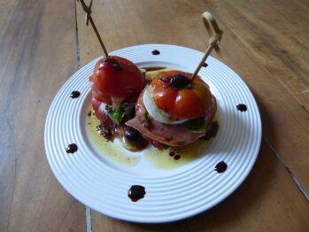 Tomates mozzarella revisitées