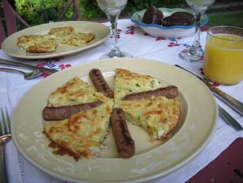 Full, hearty breakfast each morning