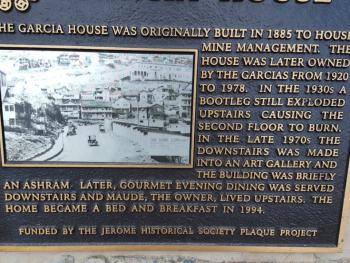Historic Plaque in front of our Inn