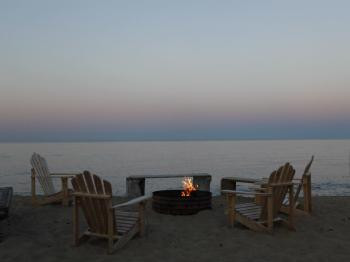 Beachfront bonfires