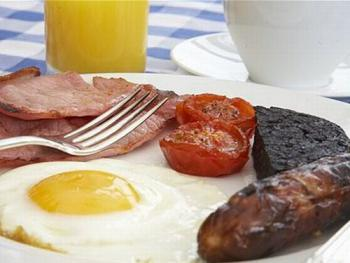 Fresh cooked breakfast