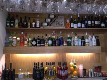 The Frocester George - Bar - Gin selection